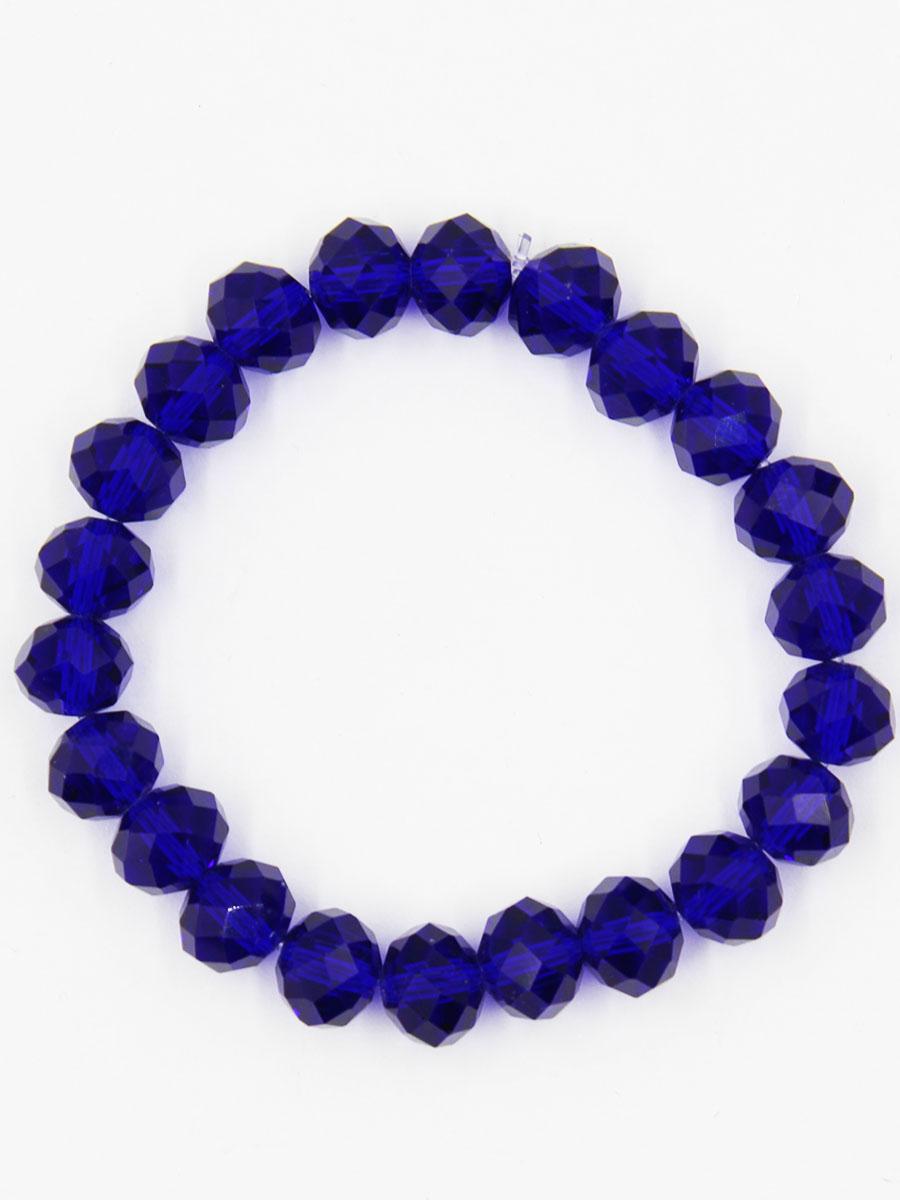 Браслет Taya, цвет: темно-синий. T-B-11790-BRAC-D.BLUEБраслет с подвескамиУниверсальный однотонный браслет на резинке. Огранка кристаллов идеальная. они ярко искрятся под любым освещением. Такой браслет можно носить с фирменными часами TAYA, а также с другими такими же браслетами в цветовой гамме.