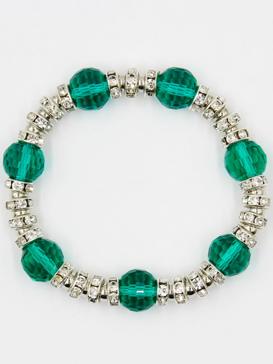 Браслет Taya, цвет: зеленый. T-B-11919-BRAC-GREENКоктейльное кольцоУниверсальный браслет на резинке. Можно носить его как дополнение к часам или к другим браслетам TAYA.