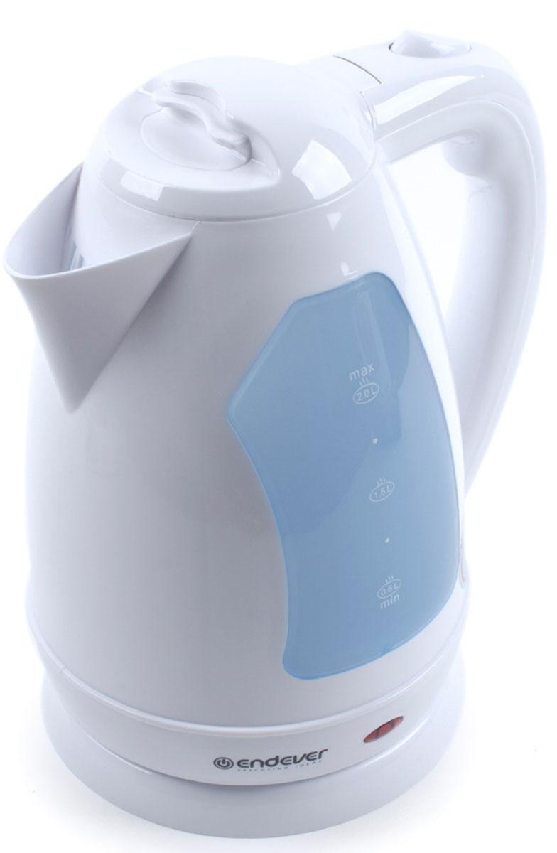 Endever Skyline KR-353 чайник электрическийKR-353Дисковый нагревательный элемент чайника Endever Skyline KR-353 обеспечивает надежность и долговечность. Эргономичная ненагревающаяся ручка оптимальна для безопасного разлива, а индикатор уровня воды позволяет контролировать количество воды в чайнике. Беспроводное соединение позволяет вращать чайник на подставке на 360°.