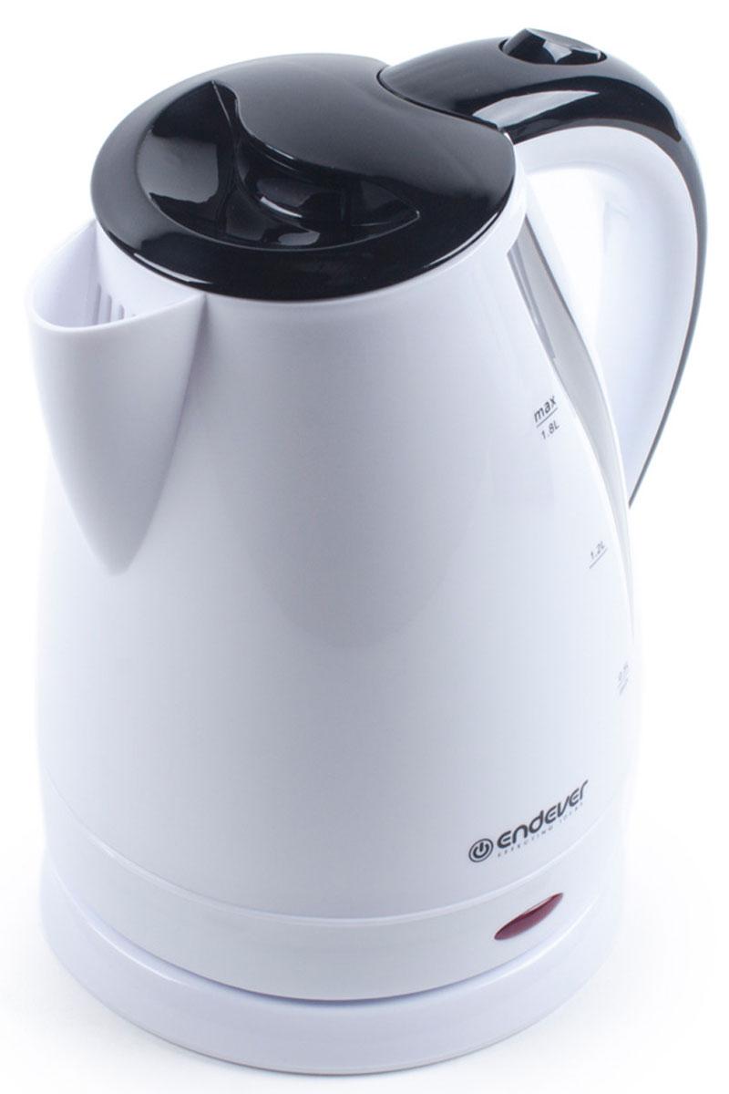 Endever Skyline KR-358 чайник электрическийKR-358Дисковый нагревательный элемент чайника Endever Skyline KR-358 обеспечивает надежность и долговечность. Эргономичная не нагревающаяся ручка оптимальна для безопасного разлива, а индикатор уровня воды позволяет контролировать количество воды в чайнике. Беспроводное соединение позволяет вращать чайник на подставке на 360°.
