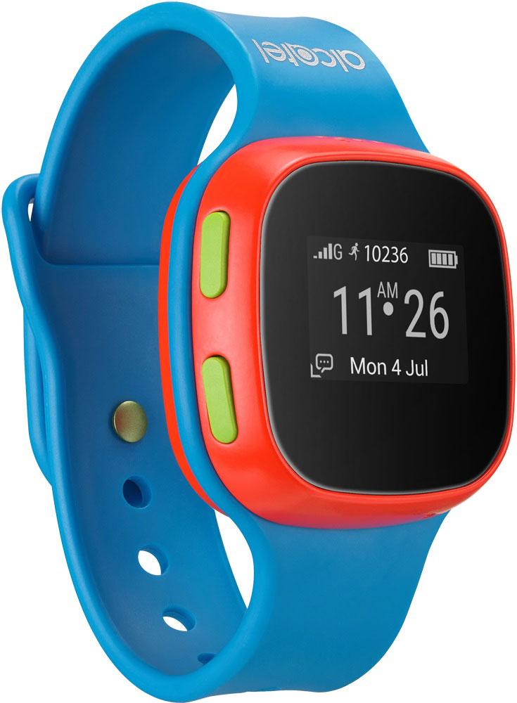 Alcatel SW10 MoveTime, Blue Red детские часы-телефон4894461448824Alcatel SW10 MoveTime - персональное наручное электронное устройство для для детей возраста от 5 до 9 лет.Данная модель выполнена в пластиковом жестком корпусе. Корпус защищен от пыли и водных струй по классу защиты IP65. Батарея обеспечивает их длительную работоспособность - до 4 дней. Отдельно выведенная кнопка SOS позволит совершить экстренный вызов.Alcatel SW10 MoveTime - помощник в родительском контроле. Родители могут звонить или отправлять голосовые сообщения своим детям. Дети могут совершать звонки на предустановленные SOS-контакты (до 10). Это позволит оградить ребенка от случайных и нежелательных входящих звонков. Общение ребенка через устройство можно ограничить пятью близкими людьми.Через специализированное приложение для смартфона, совместимое с iOS 7 и выше и Android 4.3 и выше, родители могут отслеживать местоположение своих детей и получать уведомления, когда дети приходят в школу или другую предустановленную безопасную зону. Отслеживание местоположения осуществляется специальной облачной службой, использующей GPS, GSM и Wi-Fi сигналы, и происходит как на улице, так и в помещении.Устройство работает только в сетях российских операторов.Защита от пыли/влагиЗарядка с помощью магнитного коннектораСлот для сим-карты