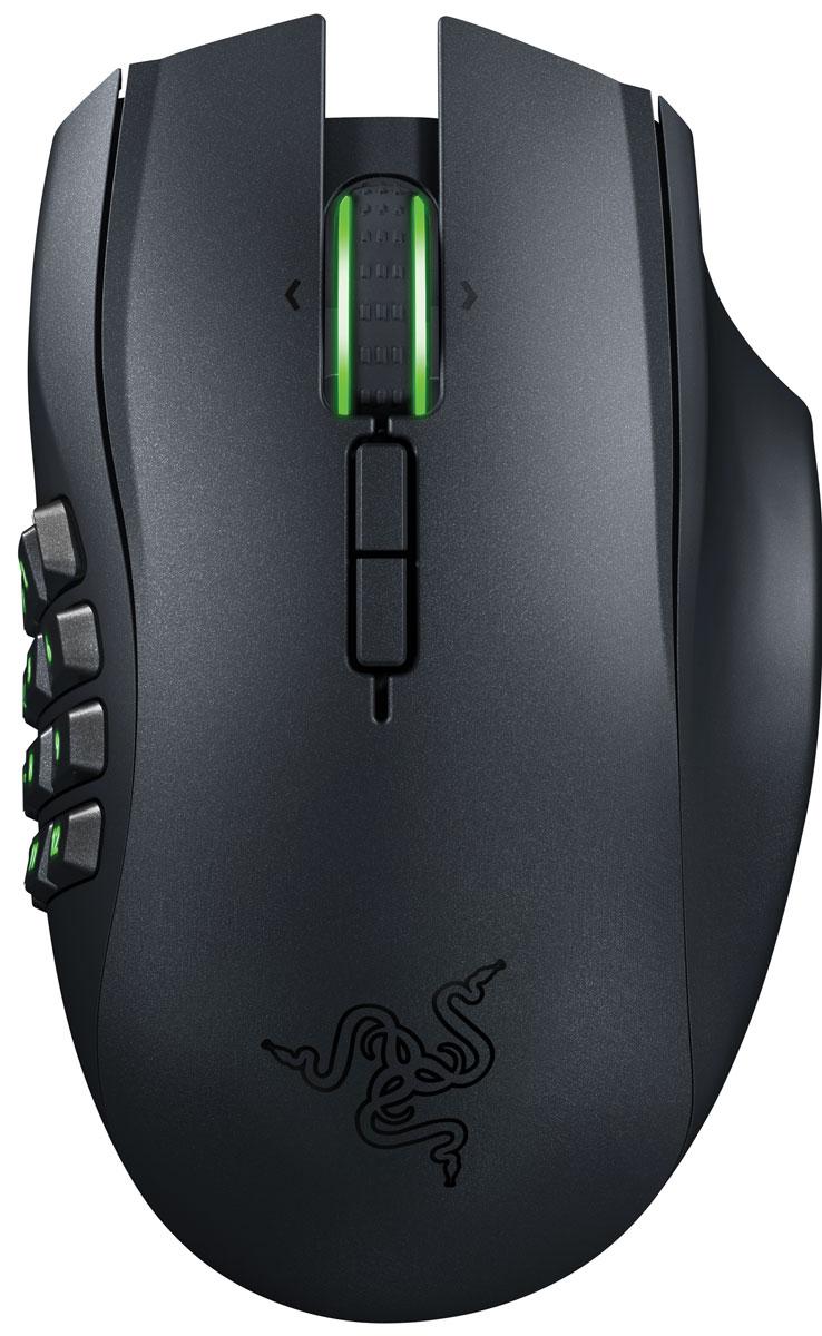 Razer Naga Epic Chroma мышь игроваяRZ01-01230100-R3G1Благодаря огромному количеству кнопок на боковой матрице для большого пальца, Razer Naga Epic Chroma пользуется невероятной популярностью среди игроков MMO по всему миру, а это, наряду с гибкостью беспроводных игровых технологий, превращает эту мышь в настоящую и беспрецедентную икону MMO.Колесо прокрутки с наклоном, улучшенная механика кнопок в матрице под большой палец и большое количество программируемых кнопок — все это невероятно расширяет арсенал точных инструментов на кончиках ваших пальцев. Идеальная эргономика, настраиваемая подсветка Chroma и интуитивный внутриигровой оверлей — эта легендарная игровая мышь для ММО идеально сидит в ладони и индивидуально настраивается под ваш стиль игры.Razer Naga Epic Chroma обладает подсветкой Chroma колеса прокрутки и боковой кнопочной панели — функцию, дающую возможность индивидуальной настройки цвета при помощи сервиса Razer Synapse 2.0. Эта универсальная эргономичная игровая мышь для ММО имеет в общей сложности 19 кнопок, 12 из которых — механические кнопки боковой панели. Мышь оснащена лазерным сенсором 4G (четвертого поколения) с разрешением 8200 dpi, способна работать на скорости до 200 дюймов в секунду, с ускорением до 50 g и как в беспроводном режиме с частотой опроса в 1000 Гц, так и проводном, благодаря легкому кабелю в защитной оплетке.Игровая мышь Razer Naga Epic Chroma также поддерживает Razer Synapse 2.0: Статистика и Карта кликов, обновлённое ПО, использующее облачный сервис Razer, которое позволяет отслеживать такие данные, как игровое время, нажатие кнопок, пройденное расстояние, общее давление, оказанное во время игры, и другие показатели. Эти данные будут особенно полезны для пользователей Razer Naga Epic Chroma и позволят облегчить настройку геймплея и интерфейса, а также увеличат точность и быстроту реакции.В любой MMO важно: чем больше инструментов под рукой, тем больше преимуществ в игре. Razer Naga Epic Chroma имеет в общей сложности 19 кнопок, 