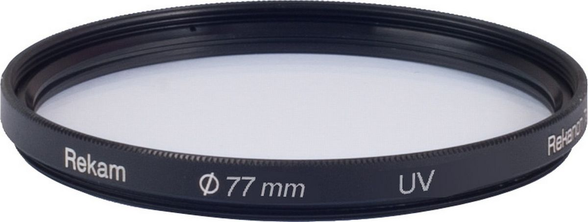 Rekam RF-UV77 ультрафиолетовый фильтр, 77 мм1601002132Светофильтры Rekam - это надежный и удобный инструмент для работы профессиональных фотографов. С их помощью можно создавать фотоматериалы, которые невозможно получить обработкой на компьютере. Компания Rekam предлагает большой ассортимент светофильтров, актуальных для цифровой фото и видеосъемки.Ультрафиолетовый UV:Ультрафиолетовый фильтр с многослойным просветлением предназначен для защиты от ультрафиолетовых лучей. - Повышает контрастность снимков. - Защищает объектив от физических повреждений, пыли, капель и отпечатков пальцев.ОСОБЕННОСТИ ФИЛЬТРОВ UV СЕРИИ X PRO SLIM UV(многослойное просветление) для профессиональных фотографов:- Ультратонкий профиль.- Специальное антибликовое покрытие оправы фильтра.- Оптическое стекло фильтра покрыто специальным двухслойным составом, который снижает потери света при отражении от поверхности фильтра.- Водоотталкивающее покрытие.