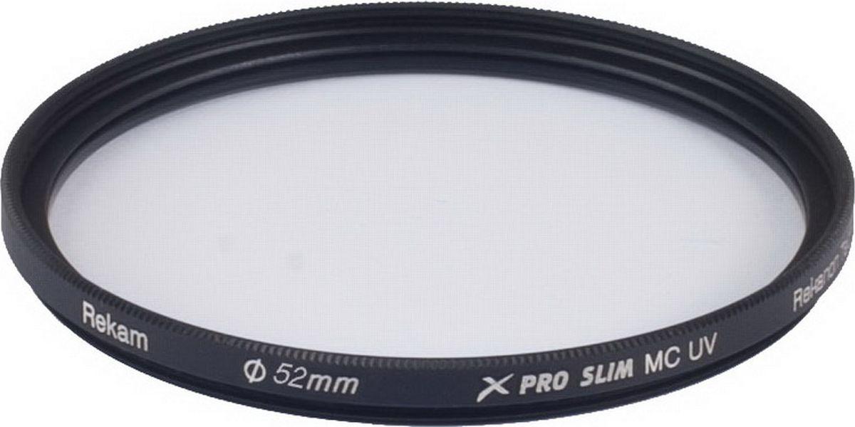 Rekam X Pro Slim UV MC UV 52-SMC16LC ультрафиолетовый тонкий фильтр, 52 мм1601002413Ультрафиолетовые фильтры серии Rekam X Pro Slim с многослойным просветлением предназначены для защиты объектива от ультрафиолетовых лучей, пыли и грязи. Рекомендуется для профессиональных фотографов.Особенности серии:Ультратонкий профиль;Специальное антибликовое покрытие оправы фильтра;Оптическое стекло фильтра покрыто специальным составом в 16 слоев, который снижает потери света при отражении от поверхности фильтра;Водоотталкивающее покрытие.