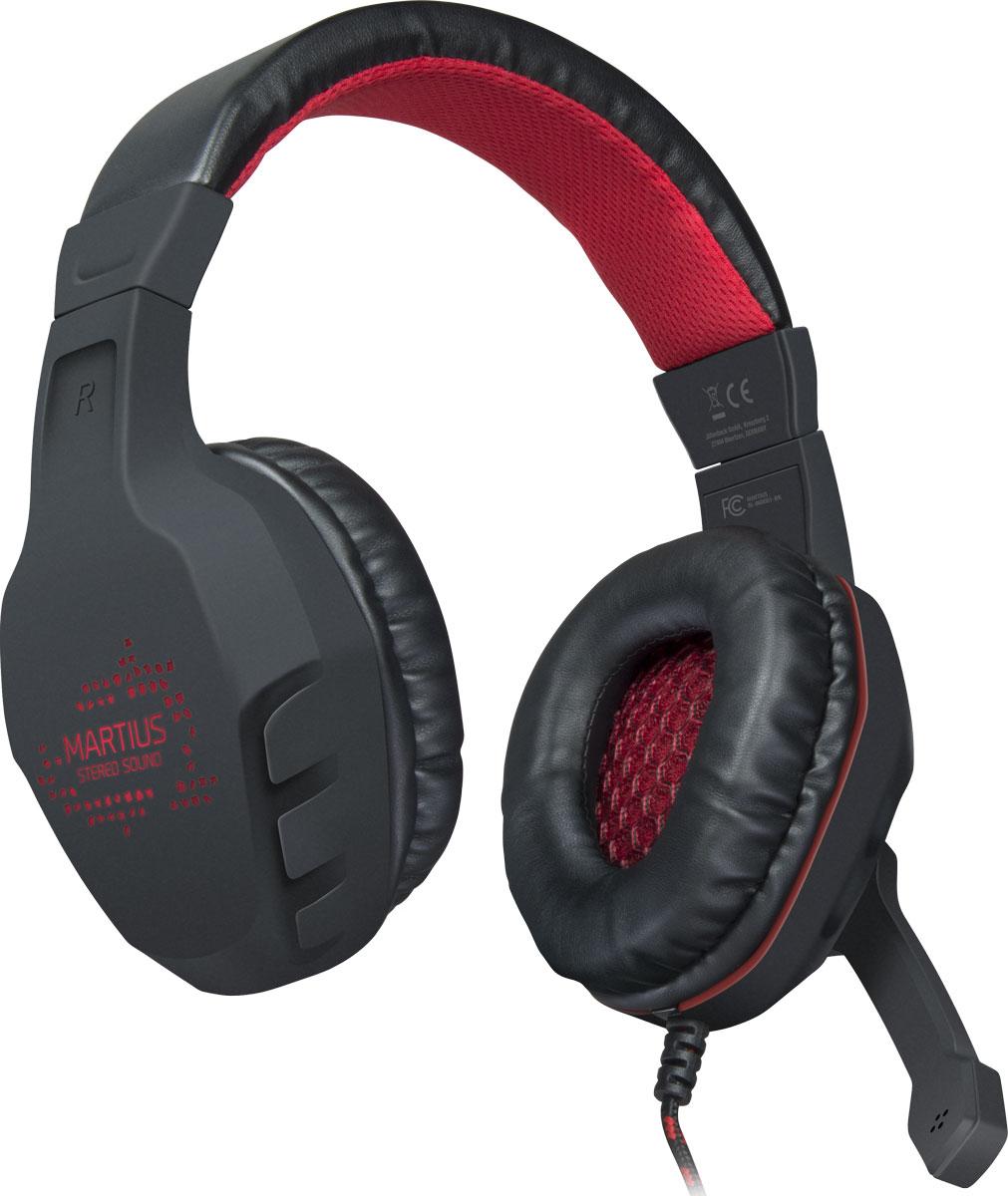 Speedlink Martius, Black игровые наушникиSL-860001-BKЧтобы почувствовать настоящий драйв в энергичных играх, нужен идеальный звук с интенсивными басами. С этой задачей на все сто справится игровая стерео гарнитура Speedlink Martius. Поворотный микрофон игровой гарнитуры обеспечивает кристально чистую связь с вашими друзьями по команде. Регулировать звук и отключать микрофон можно быстро и удобно с помощью пульта управления, расположенного прямо на проводе гарнитуры. Если же вы любите играть в темноте, то Speedlink Martius порадует вас красной светодиодной подсветкой, которая придает гарнитуре впечатляющий вид.