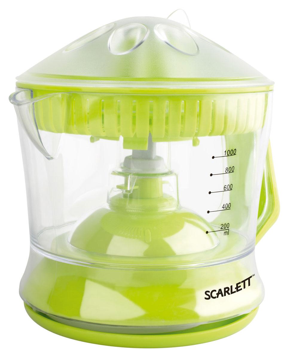 Scarlett SC-JE50C04, Lime соковыжималкаSC-JE50C04С соковыжималкой Scarlett SC-JE50C04 вы легко сможете приготовить свежий, полный витаминов сок из фруктов и овощей, а благодаря простому управлению процесс не займет много времени. Сок выжимается за считанные минуты, а соковыжималка не нагревается при работе, таким образом, сок не подвергается термической обработке и все ферменты (энзимы), а также витаминные вещества сохраняют свои полезные свойства.