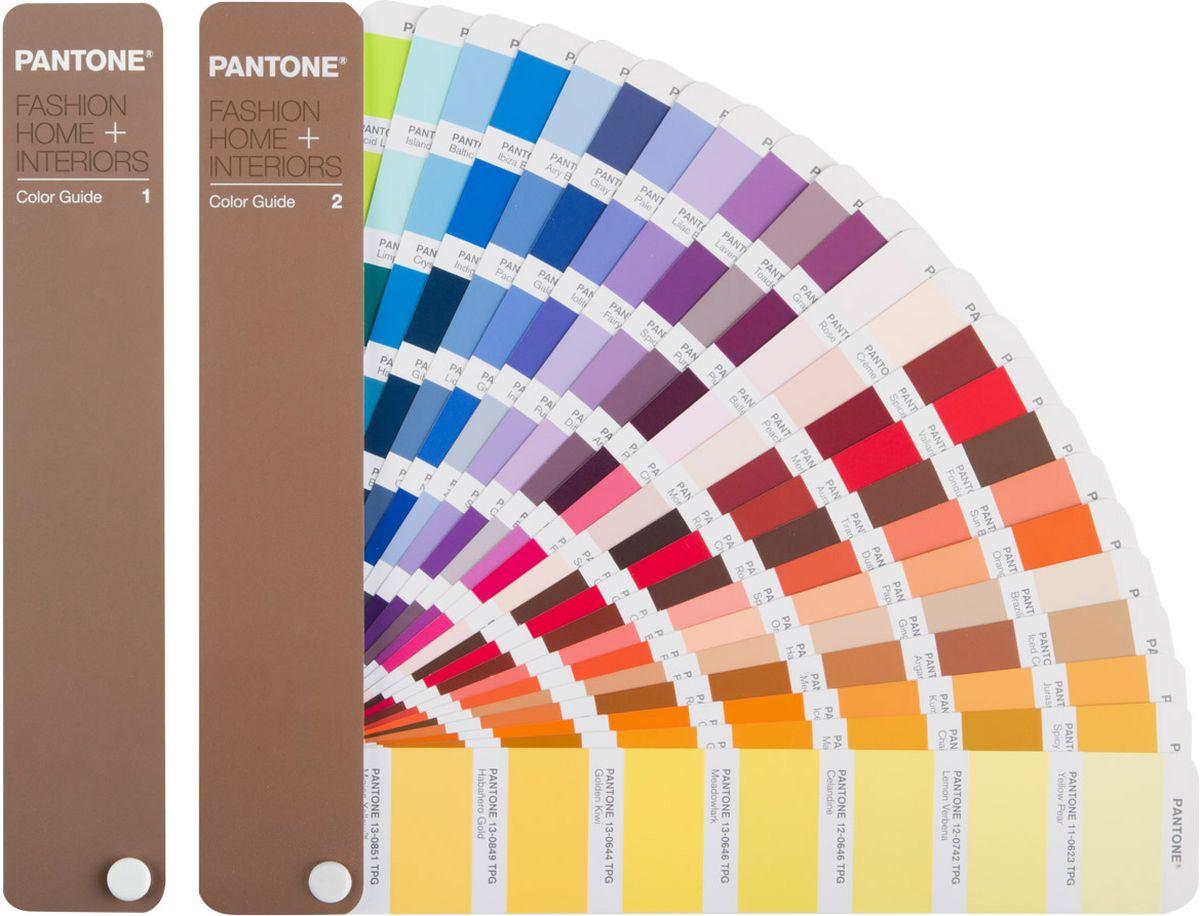 Pantone FHIP110N FHI Color Guide, цветовой справочникFHIP110NPantone FHIP110N FHI Color Guide - незаменимый инструмент для дизайнеров, пре-пресс специалистов, технологов и печатников.Новое издание цветового справочника Color Guide – это 2310 цветов библиотеки Fashion, Home и Interiors, созданные на базе новых, более дружественных к окружающей среде рецептур красителей с новым суффиксом для номеров цвета Pantone – TPG (Textile Paper – Green, Текстильные цвета на бумаге - Зеленый). Из пигментных формул были удалены все соединения свинца и хрома, при сохранении тех же цветов, как в предыдущих версиях с суффиксом TPX. Новые рецептуры, сделавшие продукт более экологически чистым, позволяют ему соответствовать самым строгим стандартам Евросоюза и других стран.