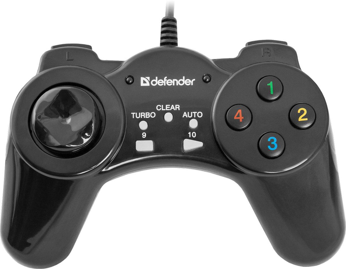 Defender Vortex USB геймпад64249Проводной геймпад Defender Vortex - прекрасная модель для начинающих геймеров. Имеет все необходимые функциональные клавиши и комфортно лежит в руках. Оснащен режимом Turbo (позволяет максимально эффективно использовать оружие в шутерах).