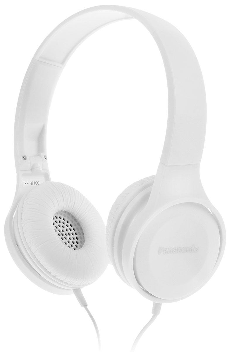 Panasonic RP-HF100GC-W, White наушникиRP-HF100GC-WНаушники закрытого типа Panasonic RP-HF100GC с 30-миллиметровыми динамиками подарят вам неизменно мощный и сбалансированный звук, где бы вы не находились дома, или в пути.Благодаря складной конструкции, наушники удобно брать с собой повсюду. Они очень компактные и не займут много места.Комфортное прослушивание музыкиОголовье с обеих сторон обрезано под углом, обеспечивающим эргономичную конструкцию, благодаря чему наушники надежно прилегают к ушам и голове. Также они удобны в носке из-за своего легкого веса.