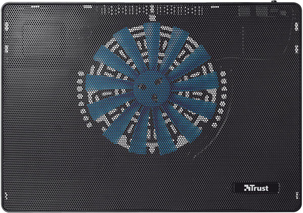 Trust Frio Laptop Cooling Stand, Black охлаждающая подставка для ноутбука19930Охлаждающая подставка Trust Frio Laptop Cooling Stand для ноутбука с большим вентилятором для интенсивного охлаждения предназначена для удобства использования клавиатуры. Сетчатое металлическое верхнее покрытие для обеспечения оптимального потока воздуха. Подходит для ноутбуков с диагональю экрана до 15,6 дюймов.