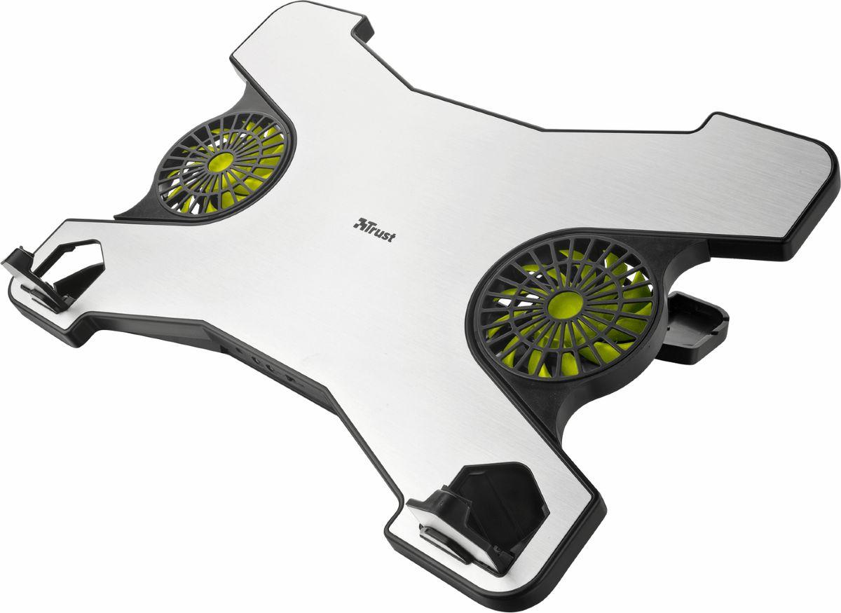 Trust Xstream Notebook Cooling Stand, Silver Black охлаждающая подставка для ноутбука