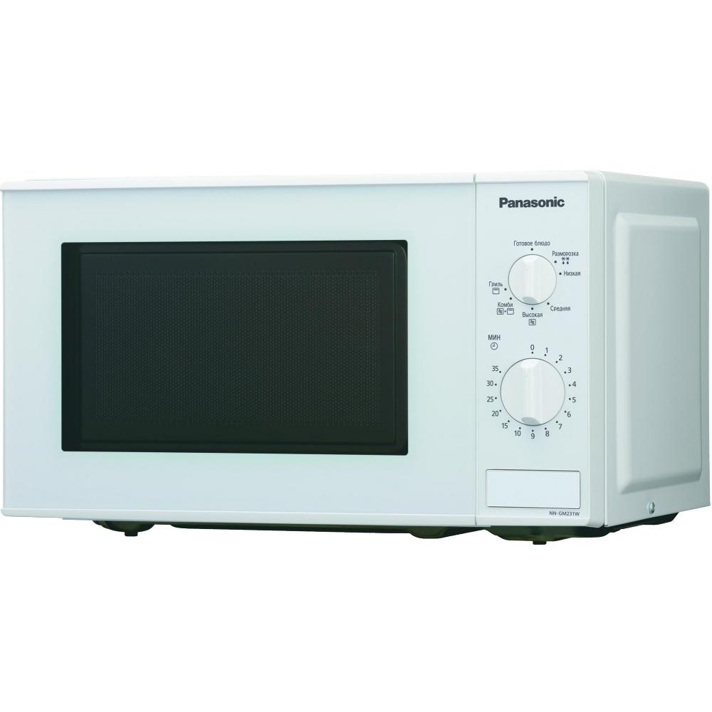 Panasonic NN-GM231WZTE микроволновая печьNN-GM231WZTEМикроволновая печь с грилем, механическое управление, 20л