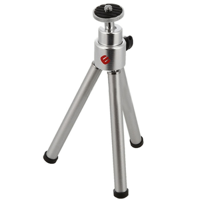 Era ECP-0050 штативECP-0050Мини-штатив Era ECP-0050 предназначена для камер небольшого размера. Максимальная нагрузка на платформу не превышает 800 г. Era ECP-0050 устанавливается на три опоры с прорезиненными накладками на основаниях ножек. Фотокамера крепится при помощи винтового адаптера 1/4 дюйма. Тренога оснащена шаровой головкой, позволяющей маневрировать камерой при настройке ее положения. В рабочем состоянии высота штатива составляет 14 см. Тренога выполнена из металла серебристого цвета.Минимальная рабочая высота: 14 см.Максимальная рабочая высота: 14 см.Высота в сложенном состоянии: 15 см.
