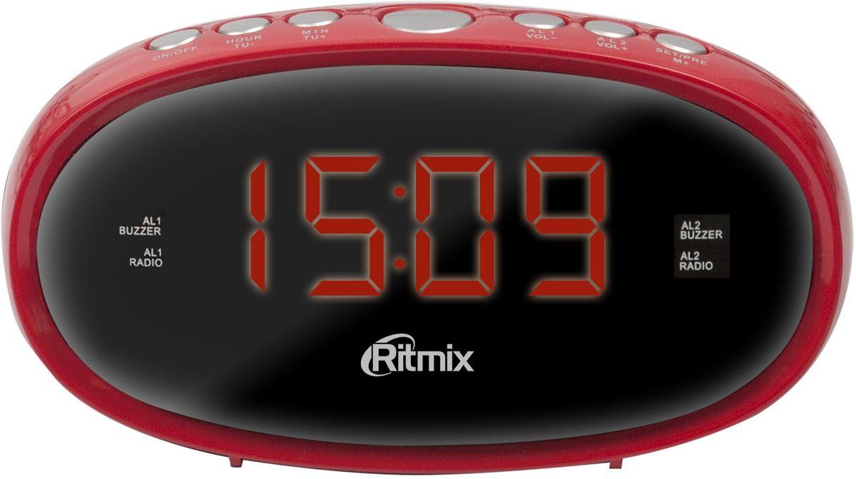 Ritmix RRC-616, Red радио-будильник - Радиобудильники и проекционные часы