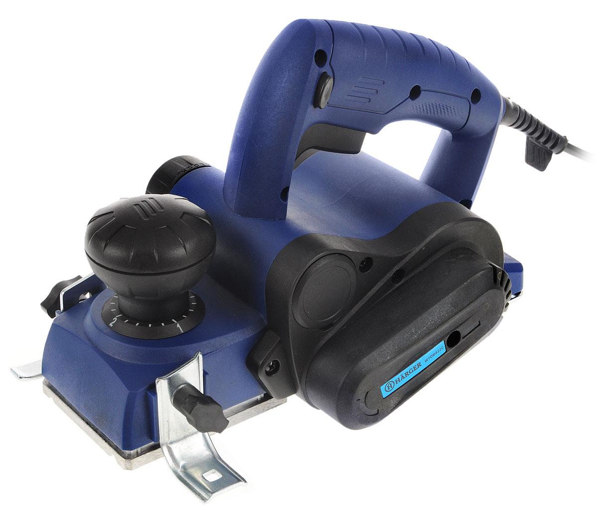 Рубанок ручной электрический Harger WTDB822CWTDB822CЭлектрический рубанок Harger WTDB822C предназначен для строгания плоских поверхностей древесины и строгания кромки при изготовлении элементов деревянных конструкций. Он оснащен двигателем мощностью 750 Вт, который развивает до 17000 об/мин. Максимальная глубина обработки составляет 3 мм. Модель работает от сети напряжением 220 В.