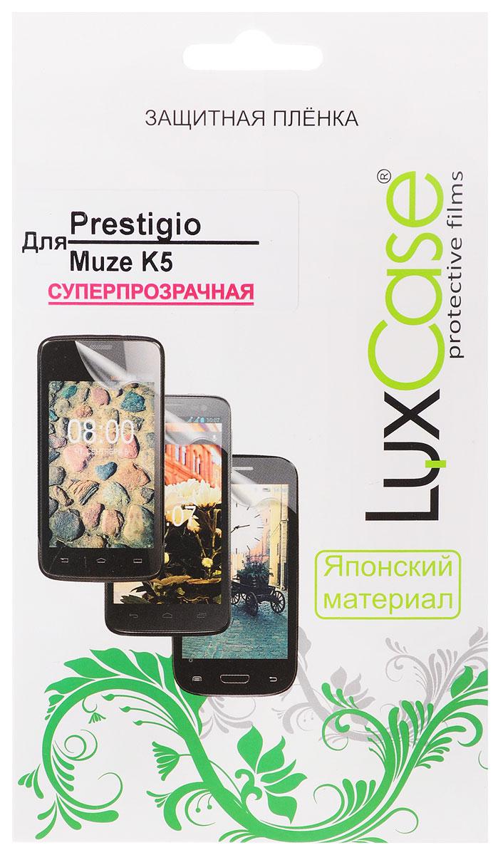 LuxCase защитная пленка для Prestigio Muze K5, суперпрозрачная50869Защитная пленка LuxCase для Prestigio Muze K5 сохраняет экран смартфона гладким и предотвращает появление на нем царапин и потертостей. Структура пленки позволяет ей плотно удерживаться без помощи клеевых составов и выравнивать поверхность при небольших механических воздействиях. Пленка практически незаметна на экране смартфона и сохраняет все характеристики цветопередачи и чувствительности сенсора.