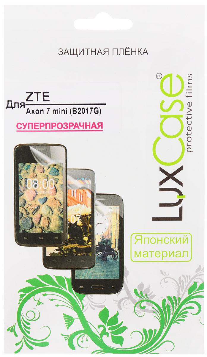 LuxCase защитная пленка для ZTE Axon 7 Mini (B2017G), суперпрозрачная51481Защитная пленка LuxCase для ZTE Axon 7 Mini сохраняет экран смартфона гладким и предотвращает появление на нем царапин и потертостей. Структура пленки позволяет ей плотно удерживаться без помощи клеевых составов и выравнивать поверхность при небольших механических воздействиях. Пленка практически незаметна на экране смартфона и сохраняет все характеристики цветопередачи и чувствительности сенсора.