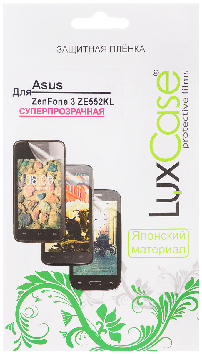 LuxCase защитная пленка для Asus Zenfone 3 ZE552KL, суперпрозрачная защитная плёнка для asus zenfone 3 ze552kl на весь экран tpu прозрачная luxcase
