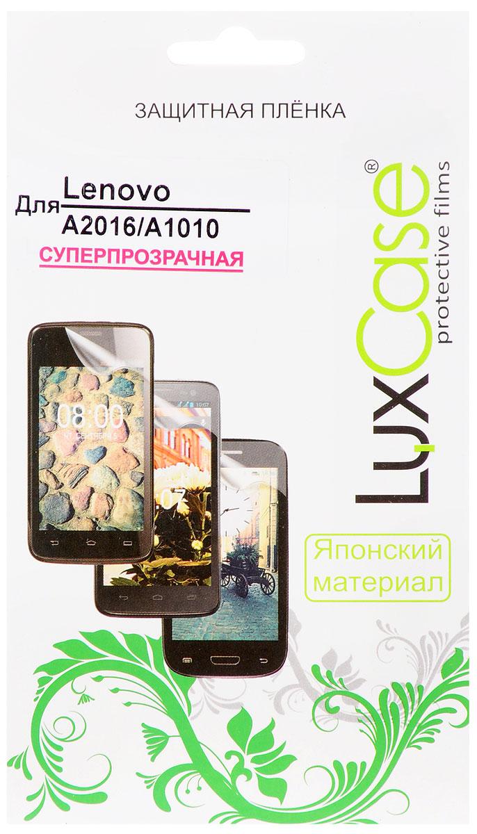 LuxCase защитная пленка для Lenovo A2016/A1010, суперпрозрачная51132Защитная пленка LuxCase для Lenovo A2016/A1010 сохраняет экран устройства гладким и предотвращает появление на нем царапин и потертостей. Структура пленки позволяет ей плотно удерживаться без помощи клеевых составов и выравнивать поверхность при небольших механических воздействиях. Пленка практически незаметна на экране гаджета и сохраняет все характеристики цветопередачи и чувствительности сенсора.