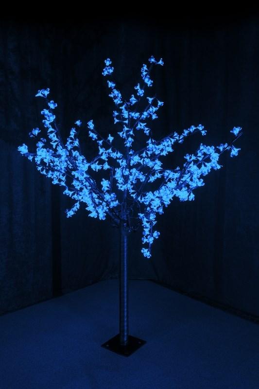 Светодиодное дерево Neon-Night Сакура, цвет: синий, диаметр кроны 130 см, высота 150 см531-303Светящееся дерево Сакура, 1,5 м, диаметр 1,3м, 480 диодов, цвет синий, с понижающим трансформатором, 220-24В, 30Вт