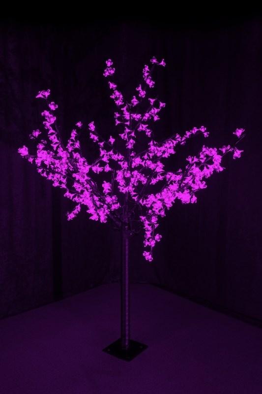 Светодиодное дерево Neon-Night Сакура, цвет: фиолетовый, диаметр кроны 130 см, высота 150 см531-306Светящееся дерево Сакура, 1,5 м, диаметр 1,3м, 480 диодов, цвет фиолетовый, с понижающим трансформатором, 220-24В, 30Вт