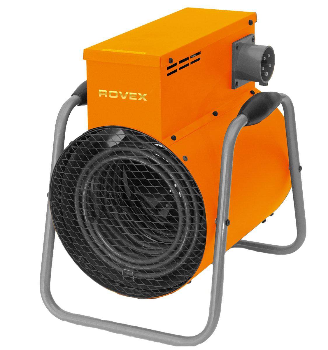 Rovex RT-09К тепловая пушкаRT-09КПринцип работы тепловой пушки Rovex RT-09К такой: встроенный вентилятор собирает холодный воздух, направляет на ТЭН (электронагревательный элемент), а затем уже теплые воздушные массы распределяются по всему помещению. Работа тепловой пушки проста и не затрачивает много электроэнергии.Тепловые пушки электрические популярны и востребованы, а все потому, что обладают рядом преимуществ:Высокой производительностью. Нагреть помещение крупной площади тепловая пушка может за короткое время.Универсальностью. Многие решают купить тепловую пушку, потому что ее можно применять в частных домах, квартирах, торговых помещениях, промышленных предприятиях, строительных площадках.Многофункциональностью. Можно использовать тепловые пушки для нагрева или вентиляции. В систему встроена защита от перегрева.Экологичностью и безопасностью. Электро пушка не сжигает кислород и не выделяет запаха.Надежностью. Встроенный в прибор ТЭН отличается эффективностью и долговечностью. Минимальный срок службы электронагревательного элемента - 25 тысяч часов. А корпус прибора сделан из стали, покрытой антикоррозийным веществом.Компактностью. Обогреватель пушка купить стоит. Он не имеет встроенных топливных баков и других дополнительных отсеков. Модели бывают переносные и стационарные.Простотой ухода и обслуживания. Думая о тепловых пушках, подбирая модель, вы должны знать, что обслуживать оборудование легко. Достаточно просто протереть его от пыли. А ремонт тепловых пушек проводится быстро, ведь внутри нет сложного механизма.Привлекательной стоимостью. Цены тепловых пушек доступны каждому.
