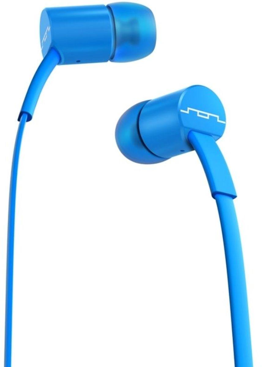 Sol Republic 1112-36 Jax Sb, Electro Blue наушники1112-36Наушники SOL REPUBLIC JAX - это качественный звук, который всегда под рукой. Благодаря динамикам i2 sound engine наушники выдают мощное и насыщенное басами звучание, которое превзойдет ваши ожидания. Гарнитура снабжена плоским кабелем, а значит, вам не придется тратить время на распутывание проводов и вы сразу перейдете к прослушиванию любимой музыки. Интегрированный трехкнопочный пульт ДУ с микрофоном позволят Вам управлять воспроизведением, громкостью и отвечать на телефонные звонки. Комплект из сменных насадок четырех размеров обеспечит комфорт и прекрасную звукоизоляцию для использования наушников в транспорте или в другой шумной обстановке.