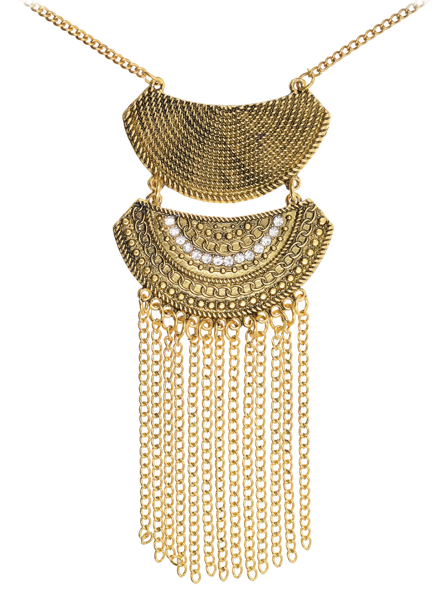 Кулон Vittorio Richi, цвет: золотистый. 91357836vrГлидерный браслетКулон Vittorio Richi изготовлен из металла. Изделие представляет собой цепочку с подвеской, дополненной вставками из страз. Застегивается кулон с помощью замка-карабина, а длина регулируется с помощью звеньев.