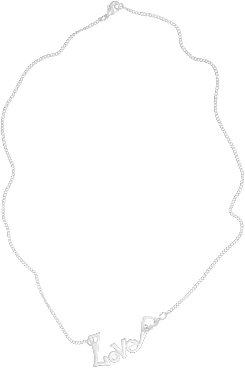 Колье Vittorio Richi, цвет: серебристый. 91558094vrБусы-ниткаКулон Vittorio Richi изготовлен из серебра и металла. Декоративный элемент выполнен в виде надписи Love и сердечка. Застегивается кулон с помощью замка-карабина, а длина регулируется с помощью звеньев.