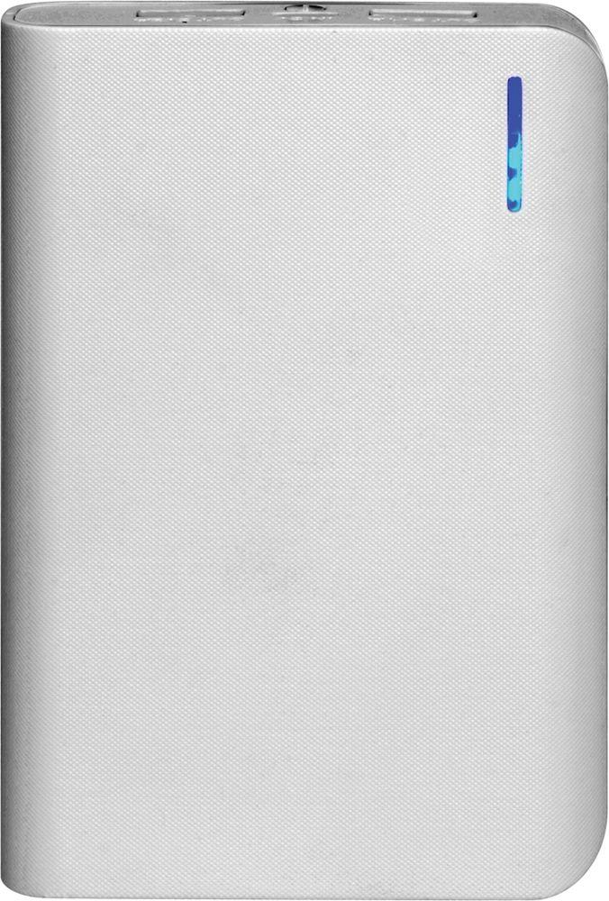 IconBIT FTB8000SP, White Grey внешний аккумуляторMCI54354Портативный аккумулятор IconBIT FTB8000SP с двумя USB выходами, фонарем и LED индикатором заряда. Подойдет для зарядки мобильных устройств с USB входом: планшетных компьютеров, телефонов, смартфонов. Заряжается от любого зарядного устройства или компьютера с USB портом. Емкость батареи позволяет до 5 раз полностью зарядить смартфон.