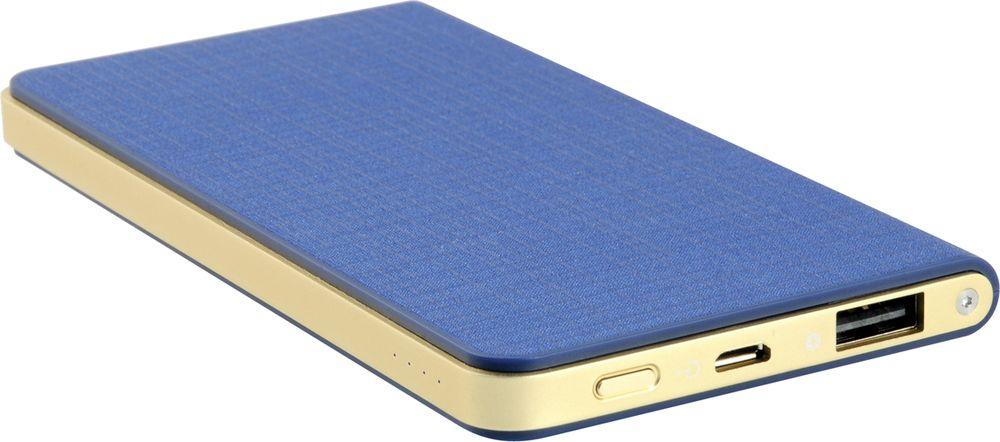 IconBIT FTB5000SLS, Blue Gold внешний аккумуляторMCI54487Сверхтонкий аккумулятор IconBIT FTB5000SLS с USB выходом и LED индикатором заряда. Подойдет для зарядки мобильных устройств с USB входом: планшетных компьютеров, телефонов, смартфонов, а также всех поколений iPad/iPhone/iPod. Заряжается от любого зарядного устройства или компьютера с USB портом.Быстрая зарядка: выход 5В/2A. Зарядка аккумулятора происходит в 2 раза быстрее, чем у аккумуляторов со стандартным входом 5В/1A.Защита от перенапряженияЗащита от короткого замыканияЗащита от перегрузки по токуЗащита от перезарядки и переразрядки
