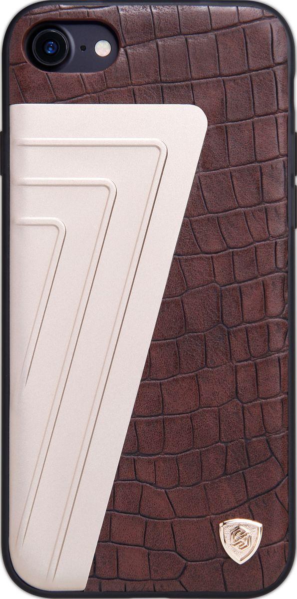 Nillkin HyBrid Case чехол для Apple iPhone 7, Brown2000000105932Чехол Nillkin HyBrid Case для Apple iPhone 7 изготовлен из высококачественных материалов. Элегантный дизайн, чехол приятен на ощупь. Жесткость чехла предотвращает телефон от повреждений во время транспортировки. Размер чехла точно соответствует размеру телефона с четким соответствием всех функциональных отверстий.