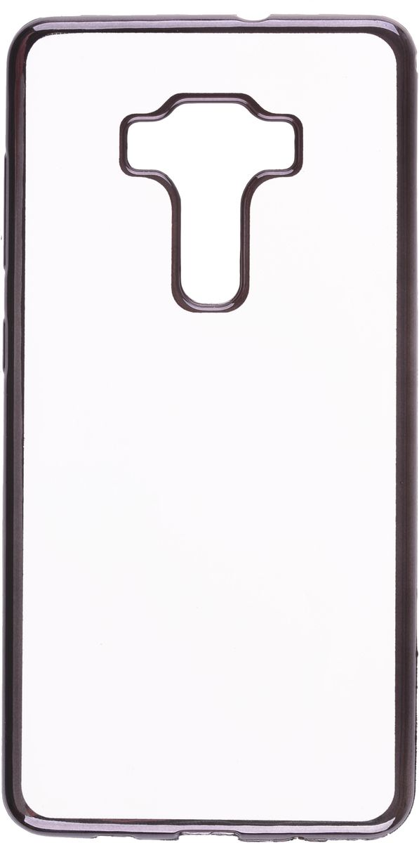 Skinbox Silicone Chrome Border 4People чехол для Asus Zenfone 3 ZS570KL, Dark Silver чехол skinbox asus zenfone zoom zx551ml