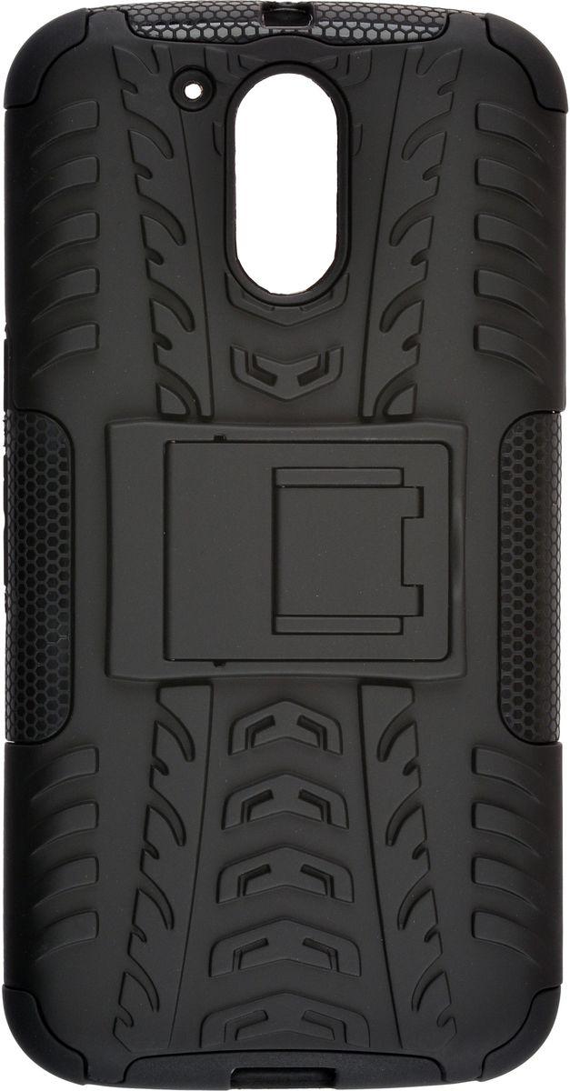 Skinbox Defender Case чехол для Motorola Moto G4 Plus, Black2000000114545Чехол-накладка Skinbox Defender Case для Motorola Moto G4 Plus бережно и надежно защитит ваш смартфон от пыли, грязи, царапин и других повреждений. Выполнен из высококачественного поликарбоната, плотно прилегает и не скользит в руках. Чехол-накладка оставляет свободным доступ ко всем разъемам и кнопкам устройства.