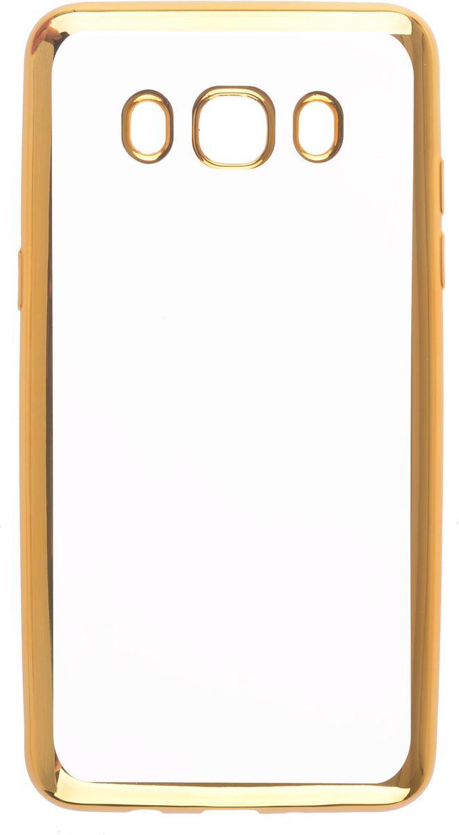 Skinbox Silicone Chrome Border 4People чехол для Samsung Galaxy J5 (2016), Golden2000000105475Чехол-накладка Skinbox Silicone Chrome Border 4People для Samsung Galaxy J5 (2016) бережно и надежно защитит ваш смартфон от пыли, грязи, царапин и других повреждений. Выполнен из высококачественного поликарбоната, плотно прилегает и не скользит в руках. Чехол-накладка оставляет свободным доступ ко всем разъемам и кнопкам устройства.