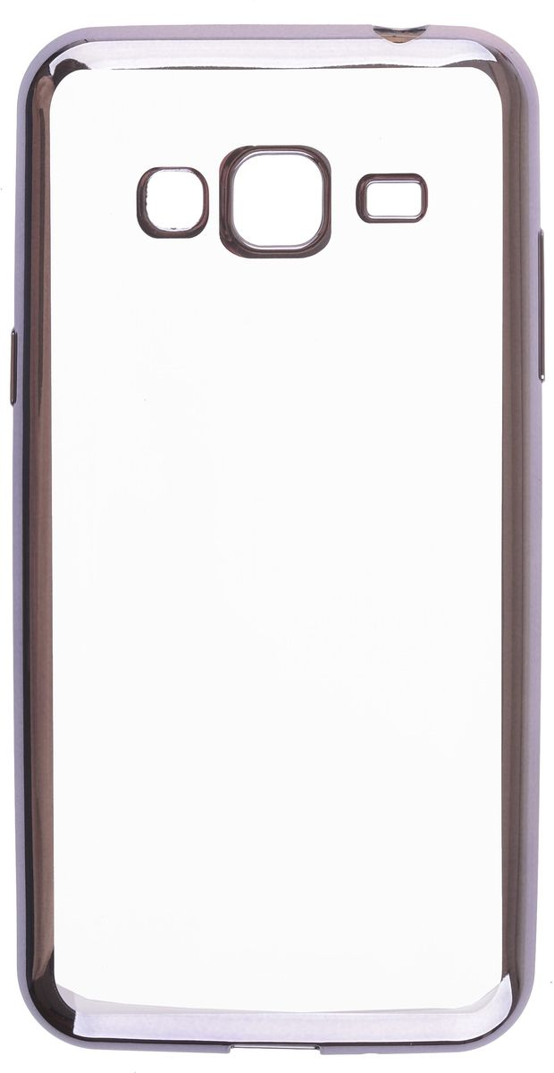Skinbox Silicone Chrome Border 4People чехол для Samsung Galaxy A3 (2016), Dark Silver skinbox 4people silicone chrome border чехол накладка для samsung galaxy s7 dark silver