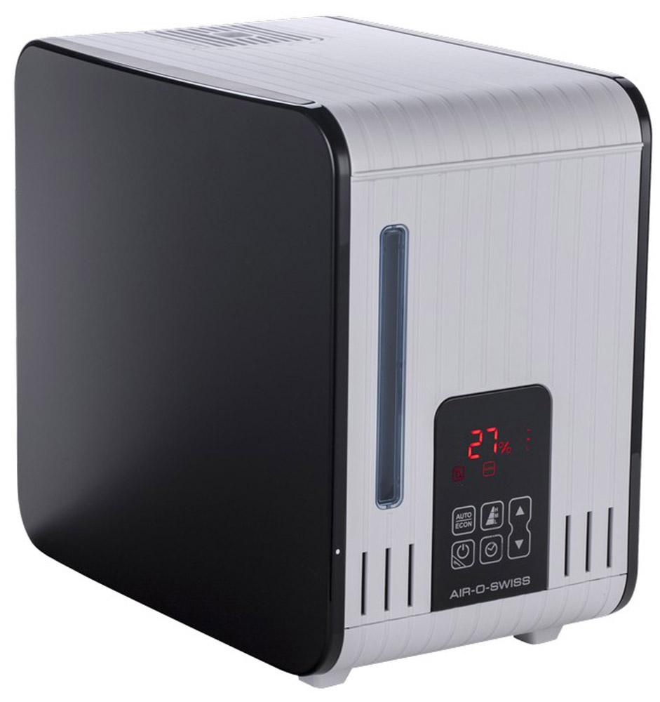 Boneco S450 паровой увлажнитель воздухаНС-1038136Паровой увлажнитель Boneco S450 насытит домашнюю атмосферу живительной влагой и прекрасно дополнит интерьер. Сенсорное управление, возможность поддержания заданного уровня влажности воздуха, таймер, четкий дисплей и своевременные напоминания о необходимости чистки прибора. Пользоваться этим умным прибором — удовольствие, доступное каждому члену семьи.Вода из бака поступает в специальный отсек, где нагревается и превращается в пар, и через камеру подачи пара поступает в помещение. Пар на выходе стерилен, так как при кипячении в воде погибают микробы и бактерии. Не оставляет белый налет на поверхностях.Пар не обжигает, его температура не превышает +48°C. Благодаря этому паровой увлажнитель S450 можно использовать в качестве домашнего ингалятора. Вдыхание теплого влажного воздуха с ароматическими маслами в процессе ингаляции уменьшает воспаление слизистых оболочек носа и горла.Семилитровый бак для воды имеет удобную ручку для переноски. Паровой увлажнитель не требователен к качеству воды, поэтому для залива вполне подойдет водопроводная вода.
