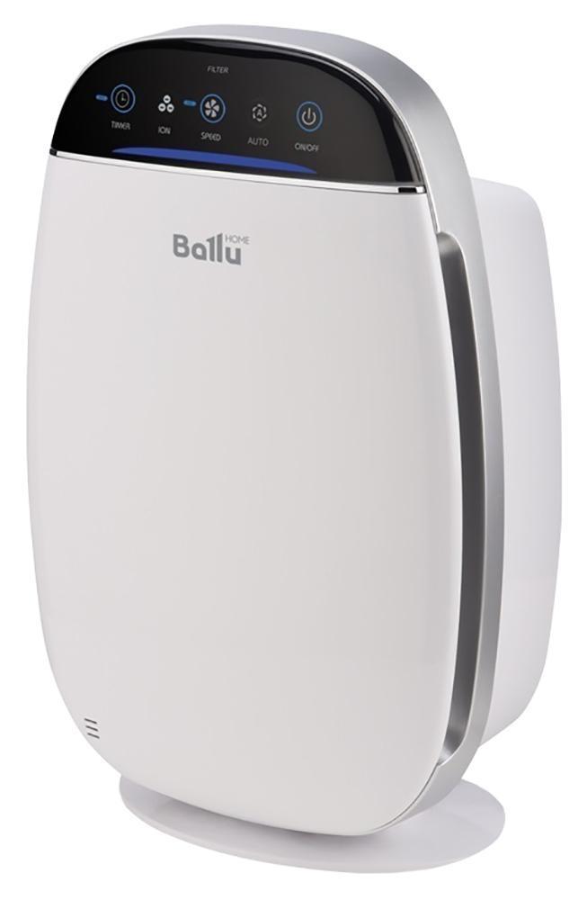 Ballu AP-155 очиститель воздухаНС-1073561В очистителе воздуха Ballu AP-155 предусмотрены все функции и технологии, необходимые для эффективной и качественной очистки воздуха в помещении. 5 ступеней очистки воздуха, 4 скорости работы вентилятора, удобное сенсорное управление, ионизатор воздуха (отключаемый), 8-часовой таймер на отключение прибора, индикатор уровня чистоты воздуха. Для своевременной замены фильтров в очистителе автоматически учитывается срок работы фильтров. Очиститель обслуживает помещение площадью до 20 кв. метров. Прибор предназначен для очистки воздуха в помещении от пыли, шерсти, аллергенов и прочих вредных примесей.С помощью вентилятора воздушный поток проходит через Pre-Carbon фильтр, задерживающий относительно крупные частицы. Затем воздух проходит через HEPA-фильтр, задерживающий пыльцу, аллергены и прочие частицы размером до 0,3 мкм. Далее VOC-фильтр 2 в 1 (угольный фильтр + цеолит), абсорбирует и впитывает неприятные запахи, химические соединения, такие как CO2, формальдегид, фреон. Завершает очистку воздуха ионизатор, который генерирует необходимое количество отрицательных ионов и очищает воздух в помещении. Ионы соединяют частицы пыли между собой в более крупные кластеры, которые лучше улавливаются фильтром, что дополнительно усиливает эффект очистки.