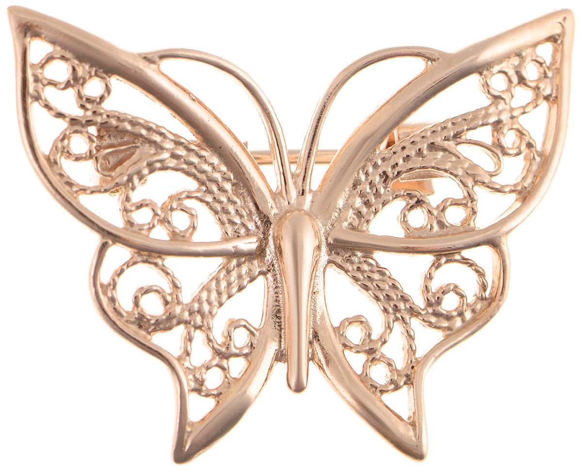 Брошь Vittorio Richi, цвет: золотистый. 91557700vrБрошь-булавкаБрошь Vittorio Richi изготовлена из металла с гальваническим покрытием из золота. Декоративный элемент выполнен в виде бабочки. Изделие застегивается с помощью замка-булавки.