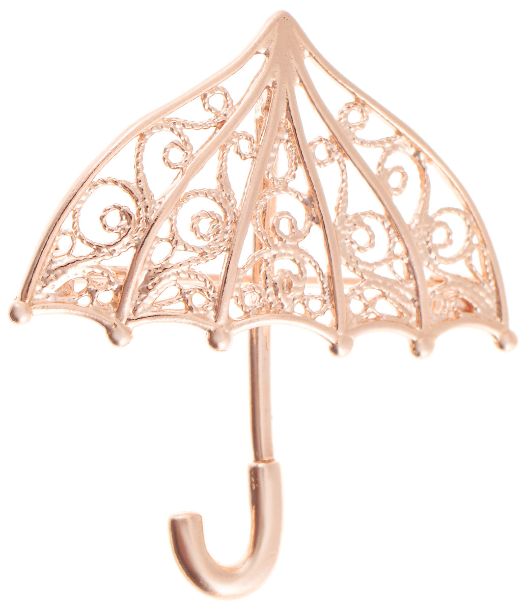 Брошь Vittorio Richi, цвет: золотистый. 91557702vrБрошь-булавкаБрошь Vittorio Richi изготовлена из металла с гальваническим покрытием из золота. Декоративный элемент выполнен в виде зонта. Изделие застегивается с помощью замка-булавки.