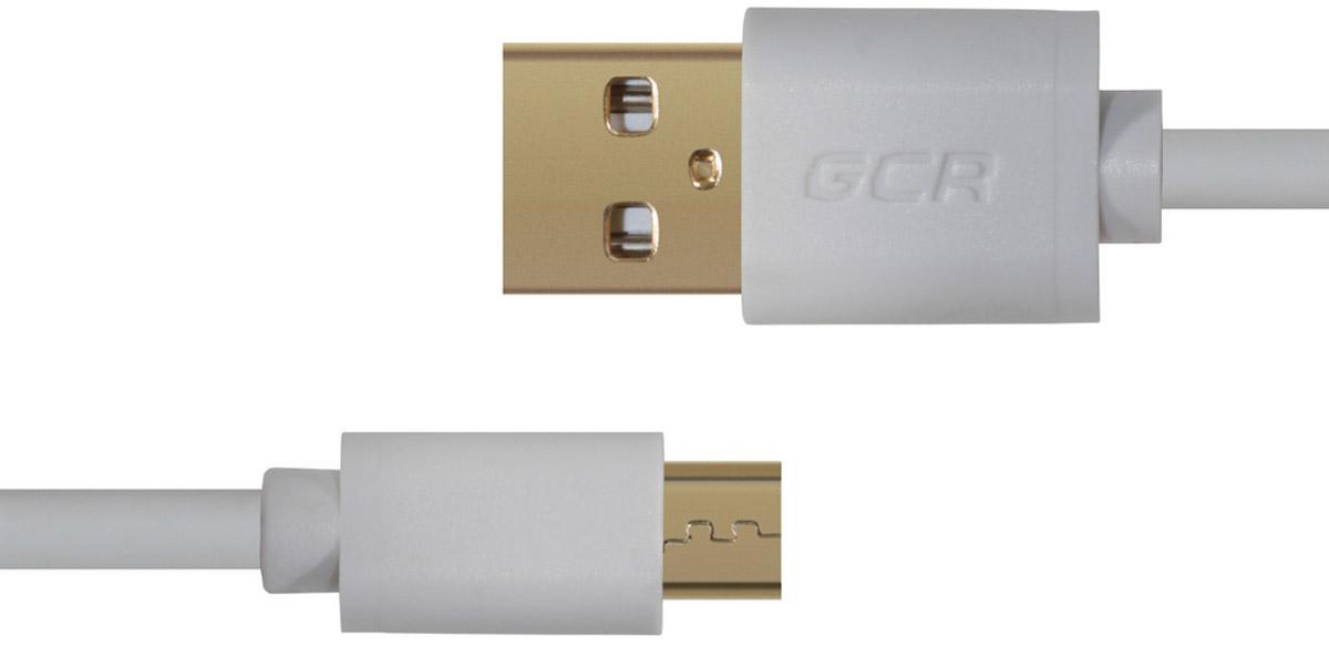 Greenconnect Russia GCR-UA10MCB3-AA2SG, White кабель microUSB-USB (1 м)GCR-UA10MCB3-AA2SG-1.0mКабель Greenconnect Russia GCR-UA10MCB3-AA2SG позволяет подключать мобильные устройства, которые имеют разъем microUSB к USB разъему компьютера. Подходит для повседневных задач, таких как синхронизация данных и передача файлов. Экранирование кабеля позволяет защитить сигнал при передаче от влияния внешних полей, способных создать помехи.