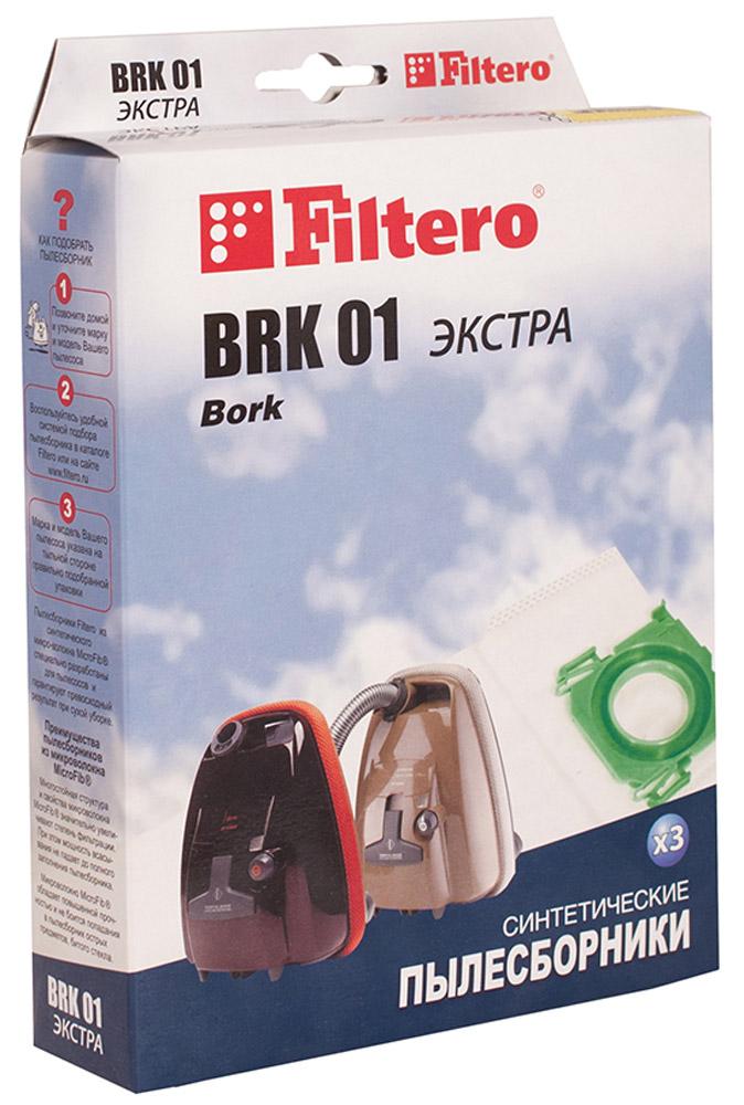 Filtero BRK 01 Экстра мешок-пылесборник 3 штBRK 01 ЭкстраМешки-пылесборники Filtero BRK 01 ЭКСТРА произведены из синтетического микроволокна MicroFib. Очень прочные, они не боятся острых предметов и влаги, собирают больше пыли (до 50%) и обеспечивают уровень очистки воздуха 99,9%, что значительно выше, чем у бумажных пылесборников. При этом мощность всасывания пылесоса сохраняется в течение всего периода службы пылесборника.Пылесборники Filtero BRK 01 подходят для следующих моделей пылесосов:BORKVC 9721VC 9821VC 9921V 700V 701V 702V 703V 705V 7010V 7011V 7012V 7013;Хранить в сухом месте.Срок годности не ограничен.