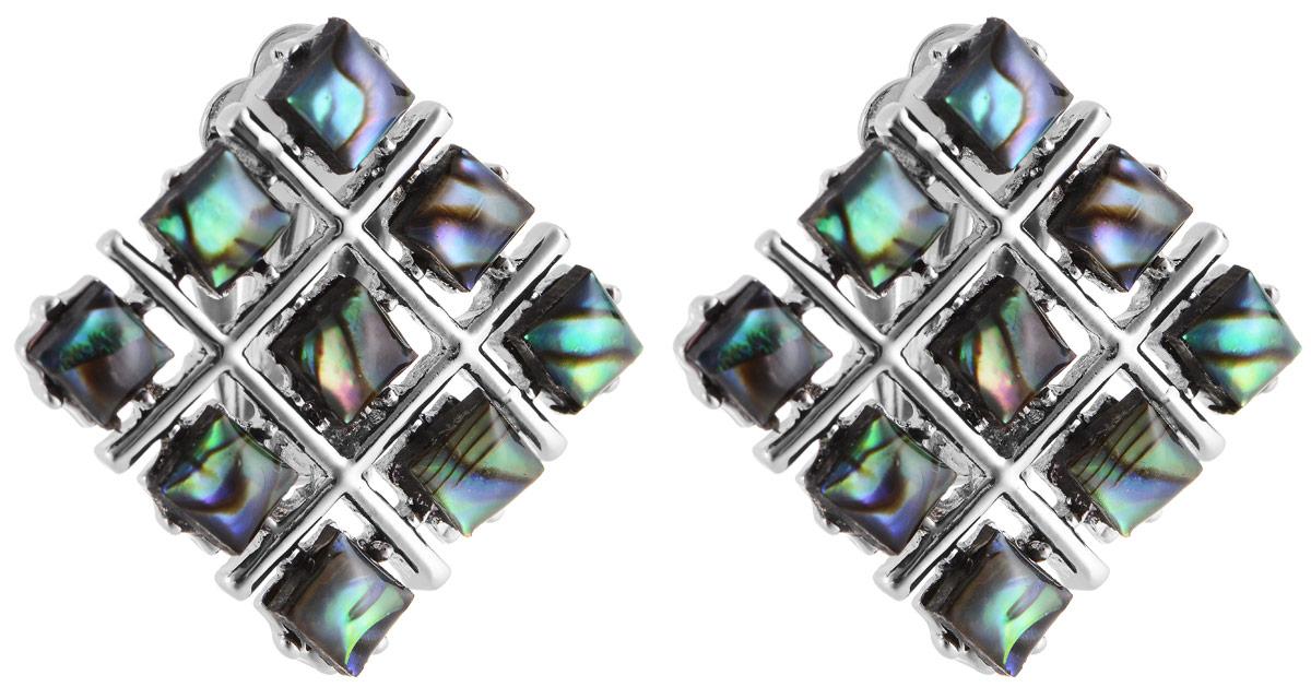 Серьги Vittorio Richi, цвет: серебристый, зеленый. 91522725vrСерьги с подвескамиСерьги Vittorio Richi выполнены из металла и оформлены вставками из искусственных камней. Изделие застегивается с помощью застежки-клипсы. Примечательной чертой застежки-клипсы является то, что она не требует прокола.