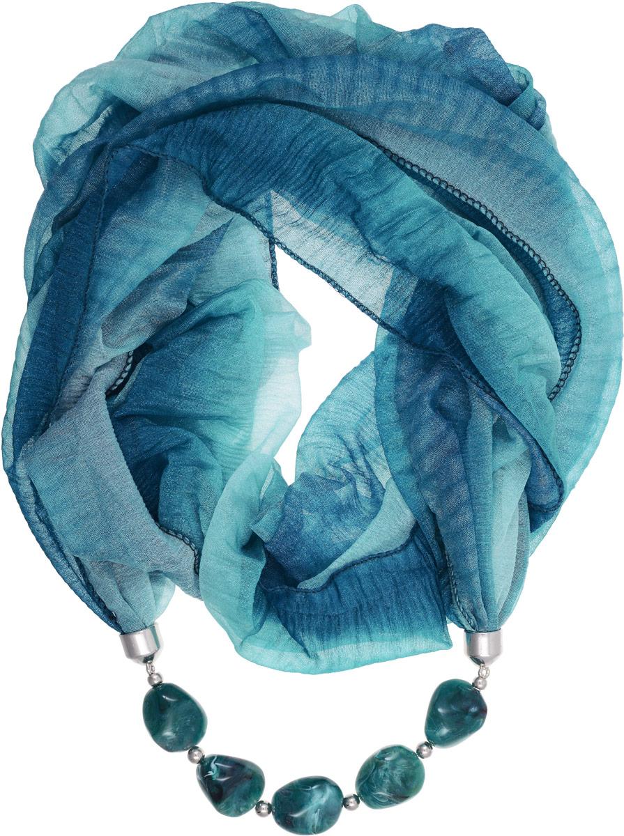 Шарф-ожерелье Bradex Француженка, цвет: морской волны. AS 0067Колье (короткие одноярусные бусы)Шарф-ожерелье Bradex Француженка выполнен из высококачественного тонкого полиэстера и надевается как хомут. Изделие представляет собой шарф с декоративным элементом в виде ожерелья, украшенного камнями.