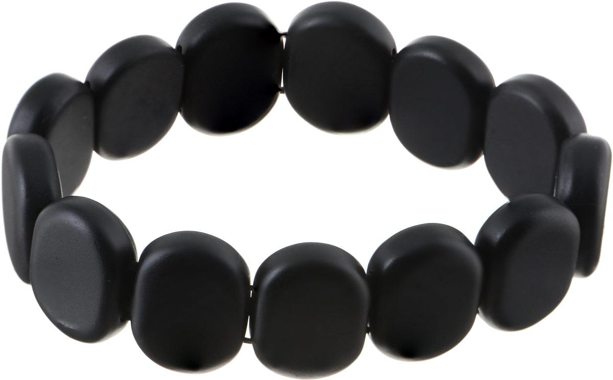Браслет Bradex, цвет: черный. AS 0001Глидерный браслетБраслет Bradex изготовлен из полудрагоценных камней бяньши. Благодаря своему дизайну и универсальному размеру изделие подходит как для женщин, так и для мужчин.