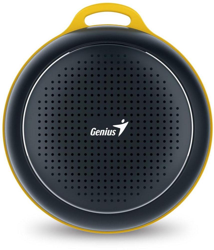 Genius SP-906BT, Black портативная колонка31731072100Невероятная громкость и глубокие басы благодаря усовершенствованной конструкции. Колонка Genius SP-906BT дает заряд отличного настроения. Пять ярких цветовых исполнений. Размер примерно с хоккейную шайбу.Интеллектуальная технология непрерывного звука: чистые высокие и низкие частоты без пропусков. Технология пространственного звучания позволяет оказаться в центре происходящего. Благодаря встроенному усилителю громкий звук колонки SP-906BT проникает в самое сердце.Прочный и гладкий карабин для подвешивания выполнен из стали и алюминия. Он устойчив к ржавчине и рассчитан на долгую службу, а силиконовый ободок обеспечивает одновременно гибкость и прочность. Сочетание жесткости и мягкости, универсальная колонка Genius SP-906BT!Благодаря передовой защите цепей и технологии Bluetooth 4.1 соединение устанавливается еще быстрее (стандартное расстояние для беспроводной работы: 10 м). Колонка SP-906BT поддерживает все продукты с технологией Bluetooth и позволяет удобно слушать музыку.Одно нажатие кнопки — и вы ведете отчетливую беседу по телефону благодаря высокочувствительному микрофону и усилителю. Чтобы перезвонить, достаточно нажать эту кнопку еще раз.