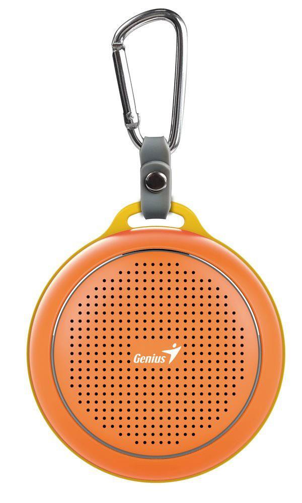 Genius SP-906BT, Orange портативная колонка31731072103Невероятная громкость и глубокие басы благодаря усовершенствованной конструкции. Колонка Genius SP-906BT дает заряд отличного настроения. Пять ярких цветовых исполнений. Размер примерно с хоккейную шайбу.Интеллектуальная технология непрерывного звука: чистые высокие и низкие частоты без пропусков. Технология пространственного звучания позволяет оказаться в центре происходящего. Благодаря встроенному усилителю громкий звук колонки SP-906BT проникает в самое сердце.Прочный и гладкий карабин для подвешивания выполнен из стали и алюминия. Он устойчив к ржавчине и рассчитан на долгую службу, а силиконовый ободок обеспечивает одновременно гибкость и прочность. Сочетание жесткости и мягкости, универсальная колонка Genius SP-906BT!Благодаря передовой защите цепей и технологии Bluetooth 4.1 соединение устанавливается еще быстрее (стандартное расстояние для беспроводной работы: 10 м). Колонка SP-906BT поддерживает все продукты с технологией Bluetooth и позволяет удобно слушать музыку.Одно нажатие кнопки - и вы ведете отчетливую беседу по телефону благодаря высокочувствительному микрофону и усилителю. Чтобы перезвонить, достаточно нажать эту кнопку еще раз.