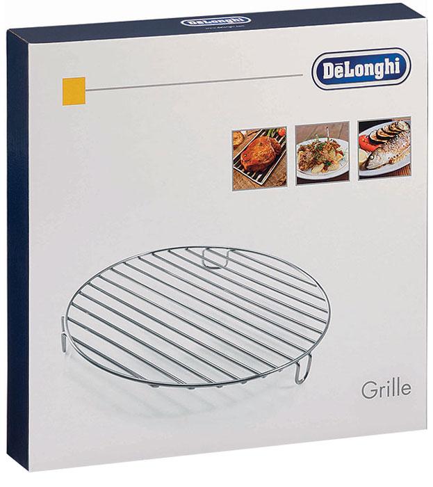 DeLonghi DLSK104 решетка для мультиварки5512510181Решетка для гриля DeLonghi DLSK104 – полезный и нужный аксессуар, если вы уже приобрели для своей кухни мультиварку от итальянского бренда. Эта металлическая решетка идеально совместима со всеми моделями мультиварок DeLonghi – вы можете использовать ее с FH 1363, FH 1394,FH 1396. Блюда, приготовленные на гриле отличаются особым вкусом, к тому же, их можно назвать диетическими, так как при их приготовлении практически не используется масло. Теперь вам не нужно ждать подходящей погоды, чтобы приготовить на природе аппетитные блюда гриль, ведь вы можете приготовить их в мультиварке.Если вы решите купить DLSK 104, вы будете довольны ее функциональностью. На этой решетке можно запечь колбаски, мясные стейки, курицу, рыбное филе или даже целую рыбу, помидоры, баклажаны, кабачки, болгарский перец. Если мясо предварительно замариновать со специями, можно приготовить ароматный и сочный шашлык. Вы сможете порадовать этими блюдами членов своей семьи или удивить гостей. Приобретите эту деталь для своей мультиварки и готовьте с удовольствием и без особых усилий.