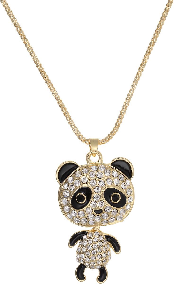 Кулон Bradex Танцующий мишка, цвет: золотой, серебряный, черный. AS 0059Брошь-кулонКулон Bradex Танцующий мишка выполнено из металлического сплава с серебряным покрытием. Объемный декоративный элемент выполнен в виде панды, оформленной вставками из страз. Туловище панды двигается отдельно от головы. Кулон застегивается на замок-карабин, а длина регулируется с помощью звеньев.