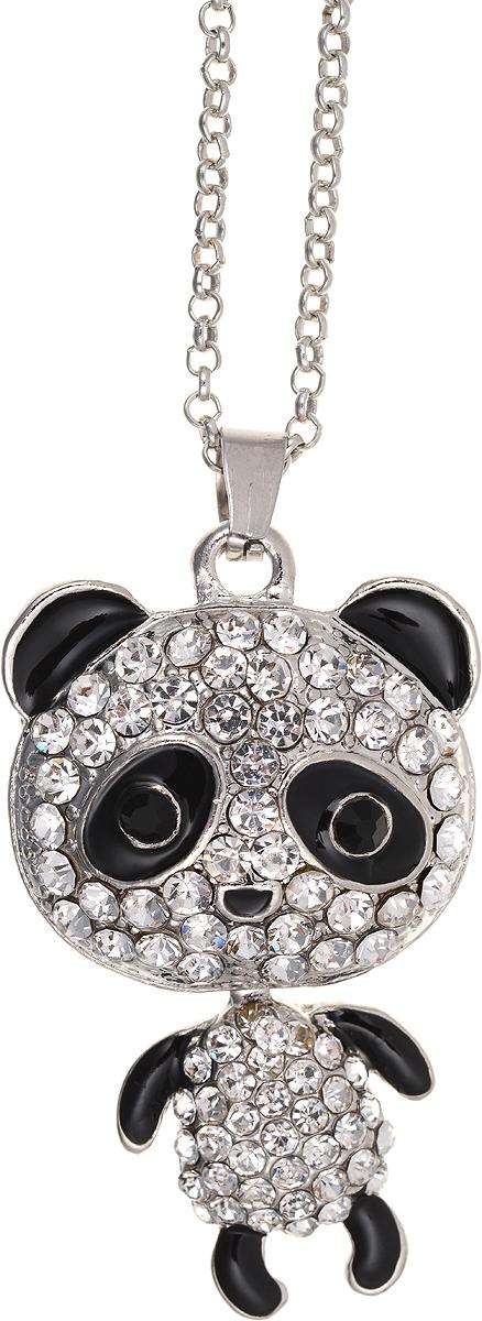 Кулон Bradex Танцующий мишка, цвет: серебряный, черный. AS 001939890|Колье (короткие одноярусные бусы)Кулон Bradex Танцующий мишка выполнено из металлического сплава с серебряным покрытием. Объемный декоративный элемент выполнен в виде панды, оформленной вставками из страз. Туловище панды двигается отдельно от головы. Кулон застегивается на замок-карабин, а длина регулируется с помощью звеньев.